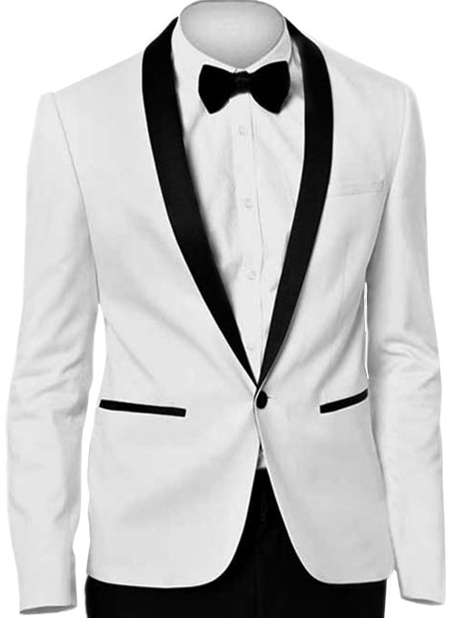 White Tuxedo Jacket : MakeYourOwnJeans®: Made To Measure ...