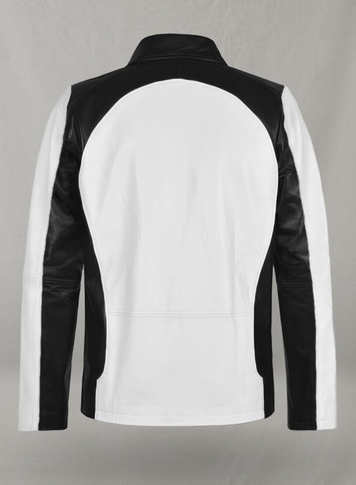 White inFamous Cole MacGrath Leather Jacket - Click Image to Close