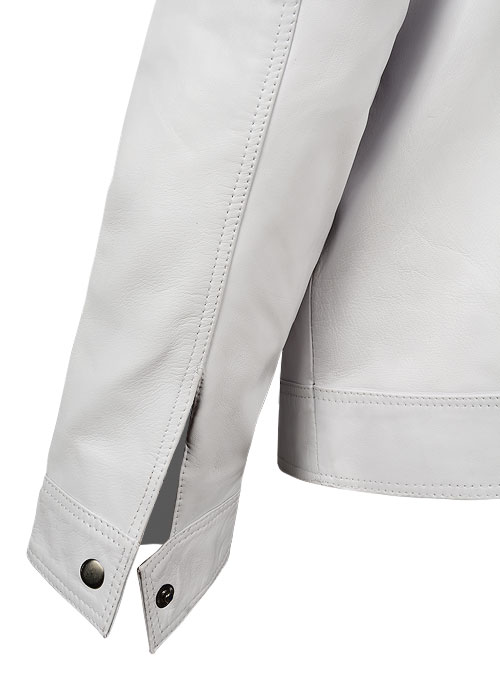 White Leather Jacket # 658 - Click Image to Close