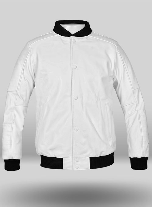 White Leather Jacket # 642