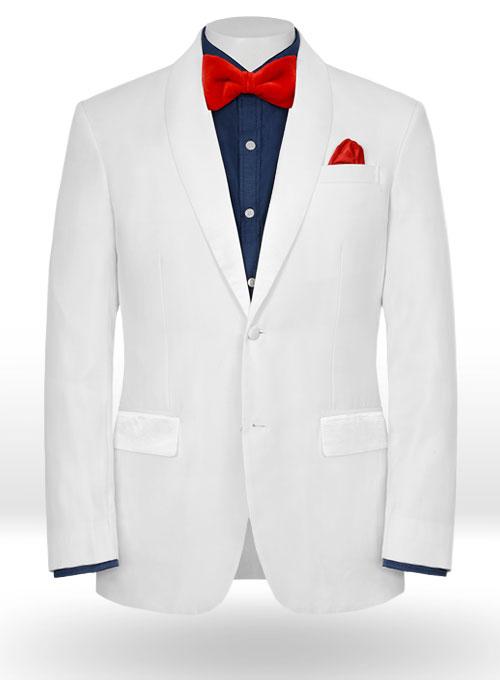 White Tuxedo Jacket - Satin Lapel