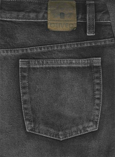 14.5 oz Black Vintage Wash Heavy Denim Jeans