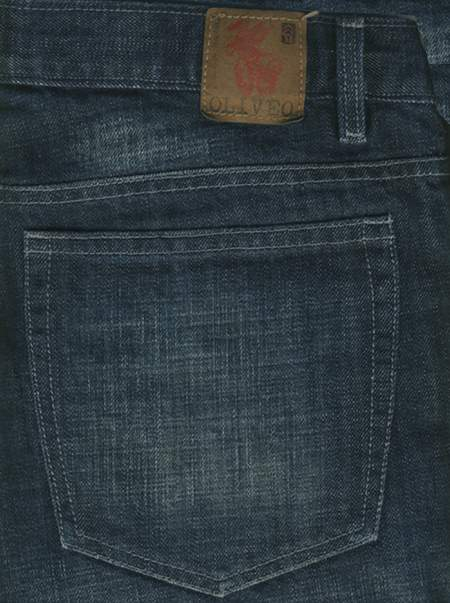Kato Blue Scrapped Hard Wash Jeans- Premium