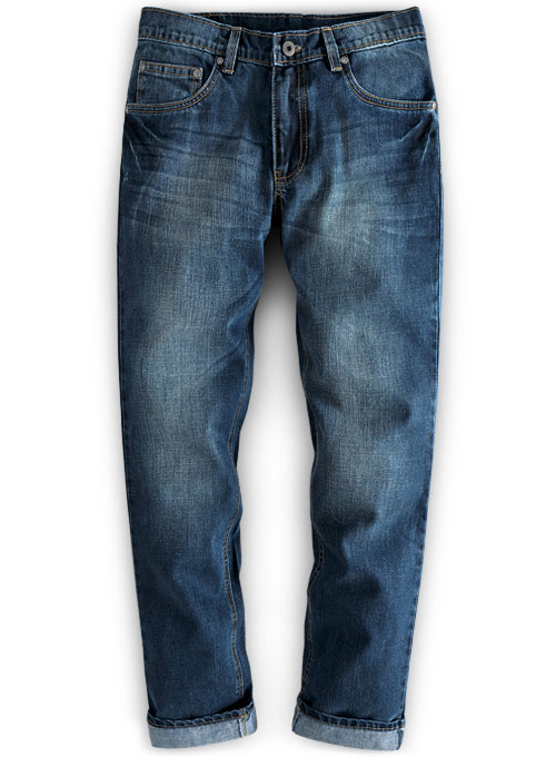 d00ed678e807a7 Ace Blue Stone Wash Whisker Jeans : MakeYourOwnJeans®: Made To ...