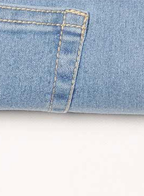 Adam Eve Hugger Stretch Jeans - Light Blue