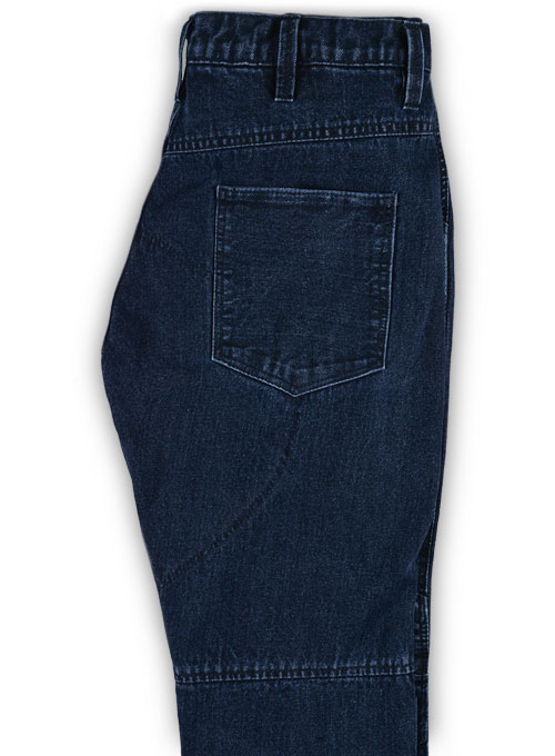 Alexis Indigo Blue Biker Jeans - Click Image to Close