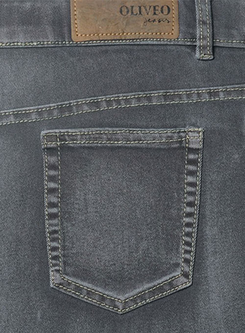 Ash Gray Stretch Jeans - Vintage Wash