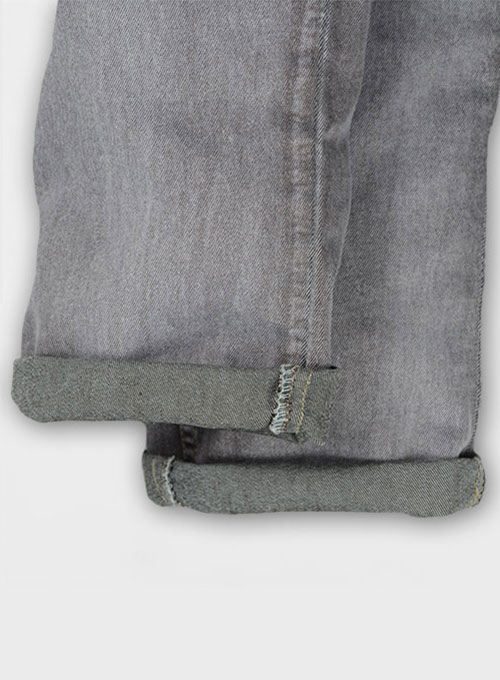 Ash Gray Stretch Jeans - Vintage Wash - Look #314
