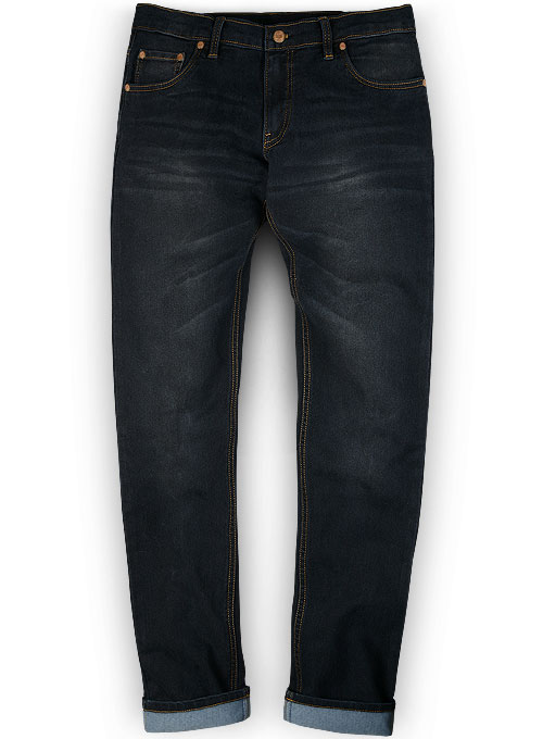 Astro Blue Whiskers Wash Stretch Jeans Look 299