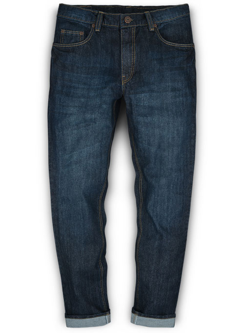 Barbarian Blue Hard Wash Whisker Jeans