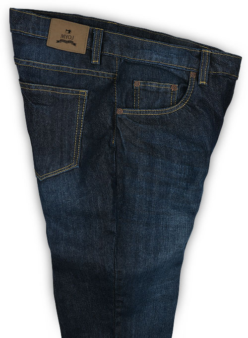 Barbarian Blue Hard Wash Whisker Jeans - Click Image to Close