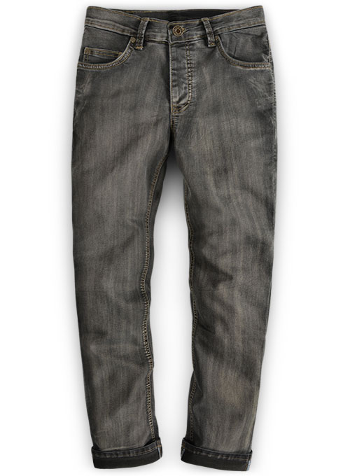 Black Body Hugger Stretch Jeans - Vintage Wash