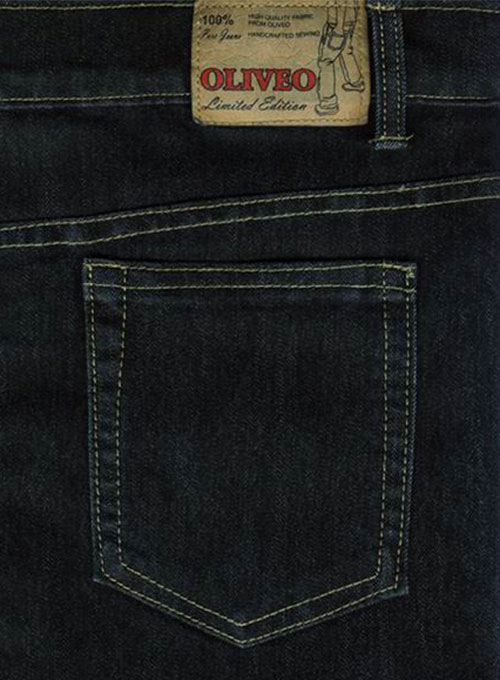 Black Body Hugger Stretch Jeans - Hard Wash