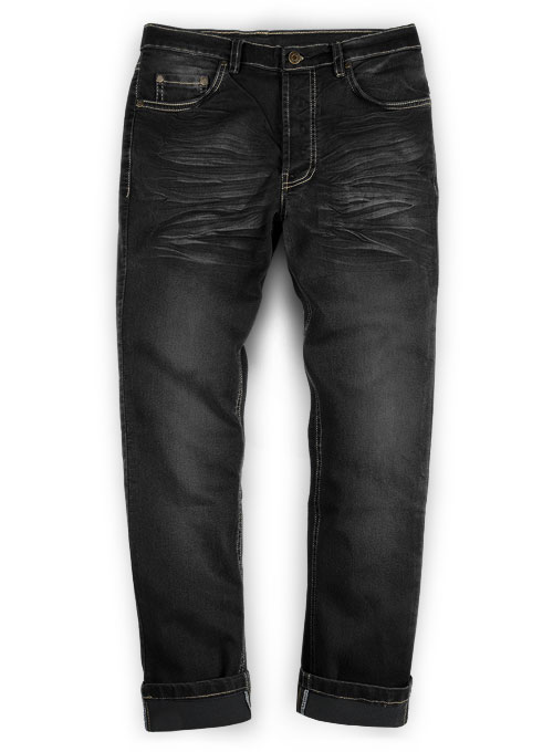 Black Body Hugger Stretch Jeans - Claw Wash