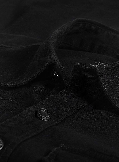 Black Denim Shirt - 7oz