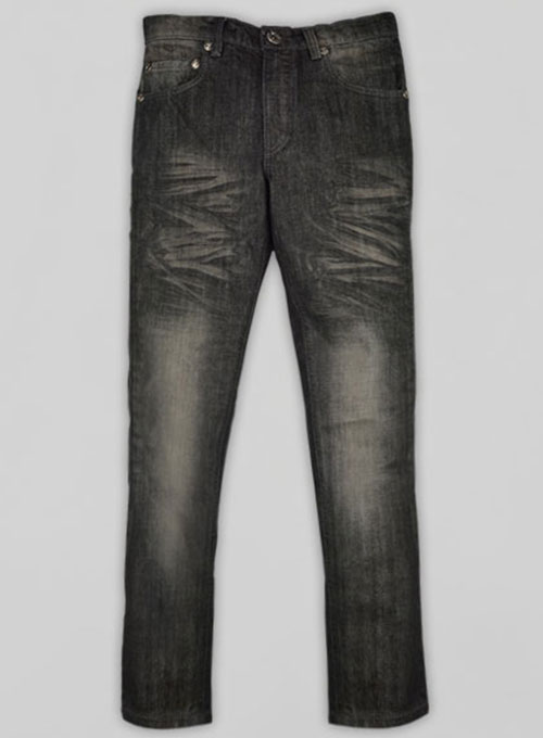 Black Tiger Claws Scrape Wash Jeans - Look #610