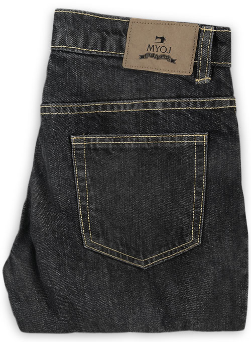Cross Hatch Black Jeans - Hard Wash - Click Image to Close
