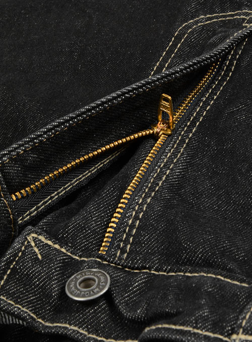 Black 14.5oz Heavy Denim Jeans