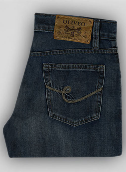 Blue Engine Vintage Wash Jeans  - Look # 130