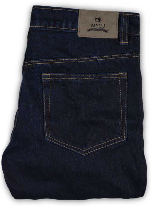 Classic Indigo Rinse Jeans - Hard Wash - Click Image to Close