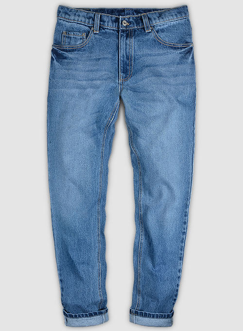Classic Heavy Blue Stone Wash Whisker Jeans