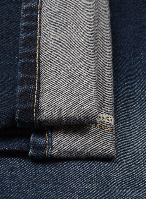 Classic Heavy Blue Hard Wash Whisker Jeans - Click Image to Close