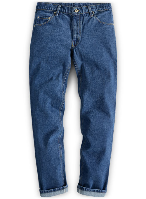 Classic Heavy Blue Stone Wash Jeans
