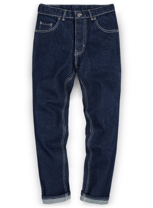 Classic Heavy Blue Hard Wash Jeans