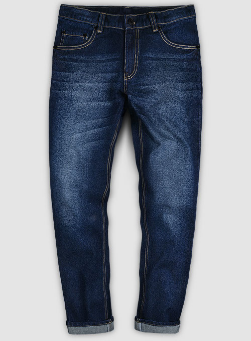 Classic Heavy Blue Hard Wash Whisker Jeans