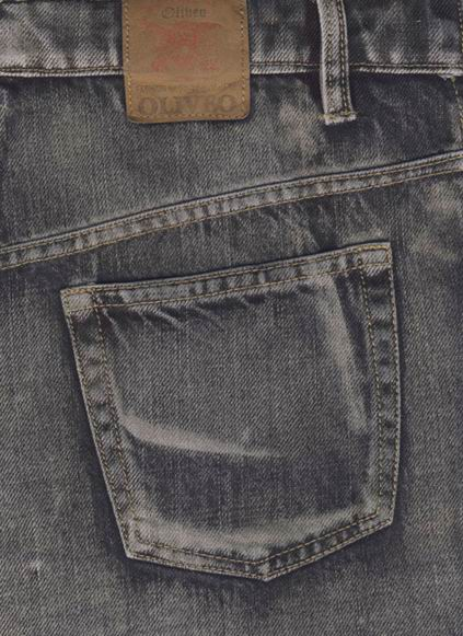 Coated Denim Jeans - Vintage Wash