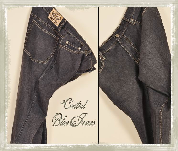 Coated Denim Jeans - Scraped