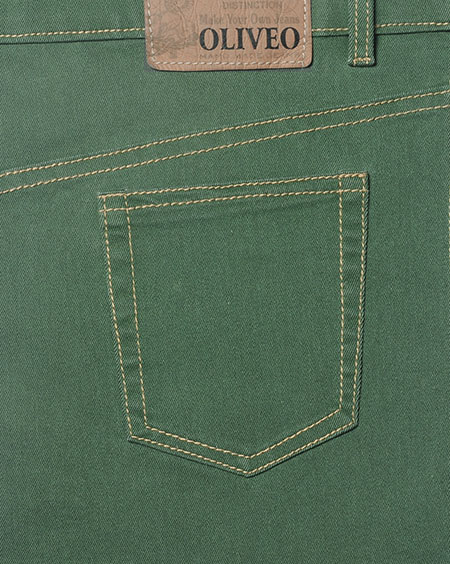 Cosmo Green Stretch Jeans