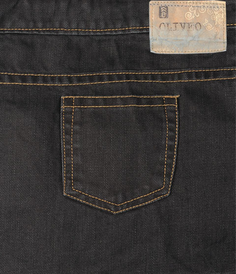 Dark Brown Denim Jeans