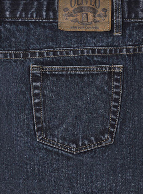 Deadly Dark Blue  Jeans - Blast Wash