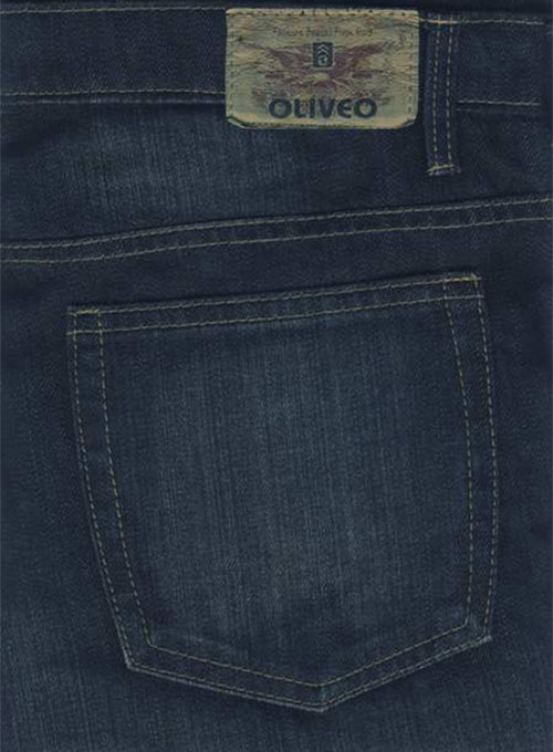Deadly Dark Blue - Hard Washed Scraped Jeans