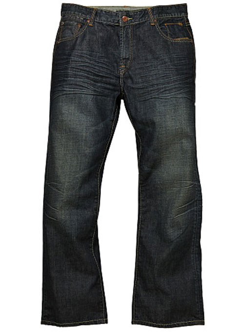 Deadly Dark Blue - Hard Washed Jeans Scrape Whisked