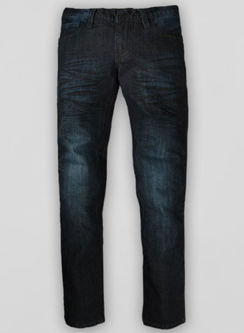 Deadly Dark Blue Whisked Jeans  - Look # 316
