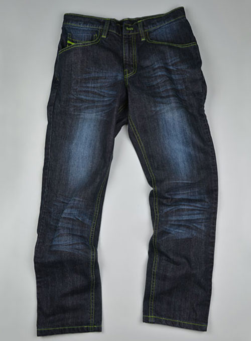 Deadly Dark Blue Double Whisked Jeans  - Look # 317