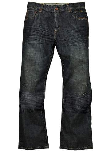 Deadly Dark Blue - Hard Washed Jeans Scrape Double Whisked