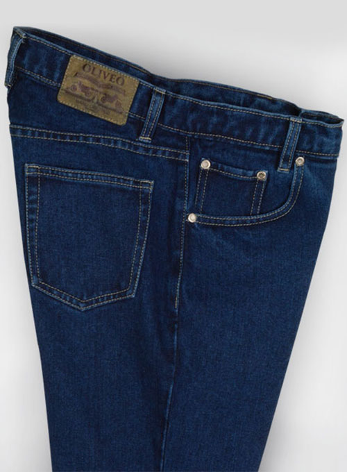Dark Blue 14.5oz Heavy Denim Jeans - Click Image to Close