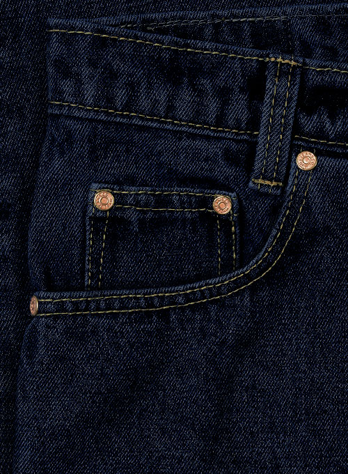Dark Blue 14.5oz Heavy Denim Jeans - Hard Wash - Click Image to Close