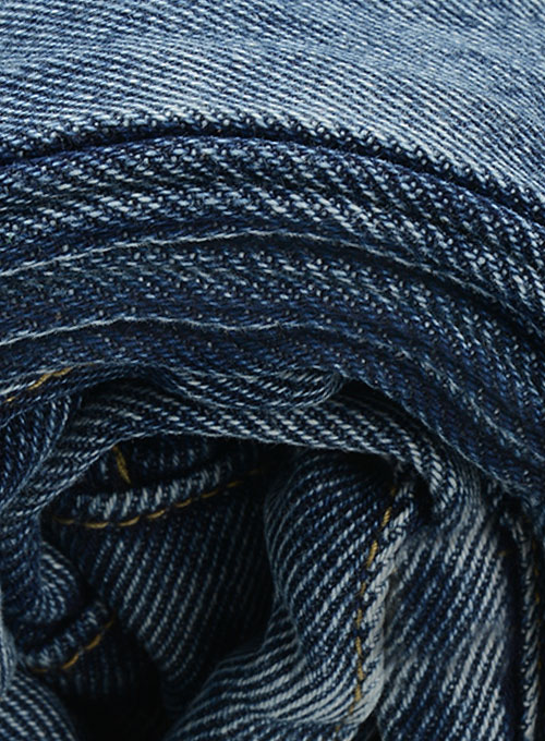 Dark Blue 14.5oz Heavy Denim Jeans - Blast Wash