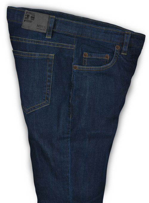 Draper Blue Denim-X Wash Stretch Jeans - Click Image to Close