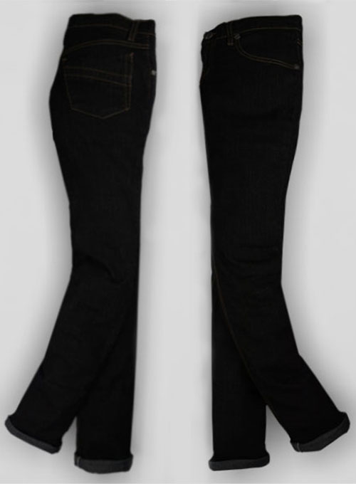 Fine Cross Fire Stretch Black Jeans - Look # 324