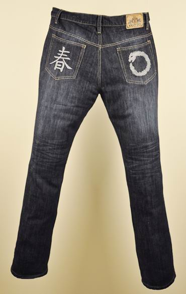 Matt Finish Blue Denim Jeans  - Clawed and Scraped
