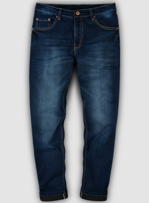 Foster Blue Stretch Indigo Wash Whisker Jeans
