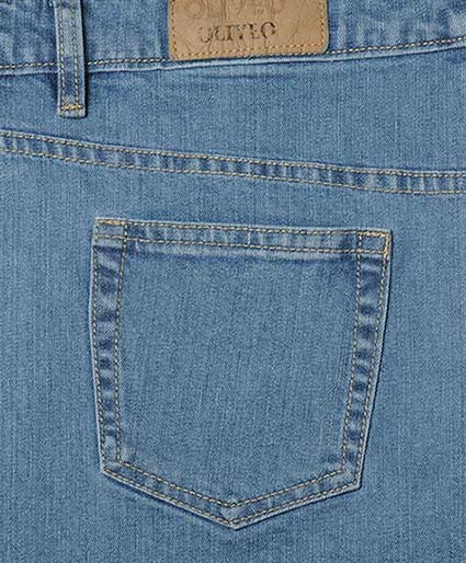 Furnace Stretch Denim Jeans - Light Blue