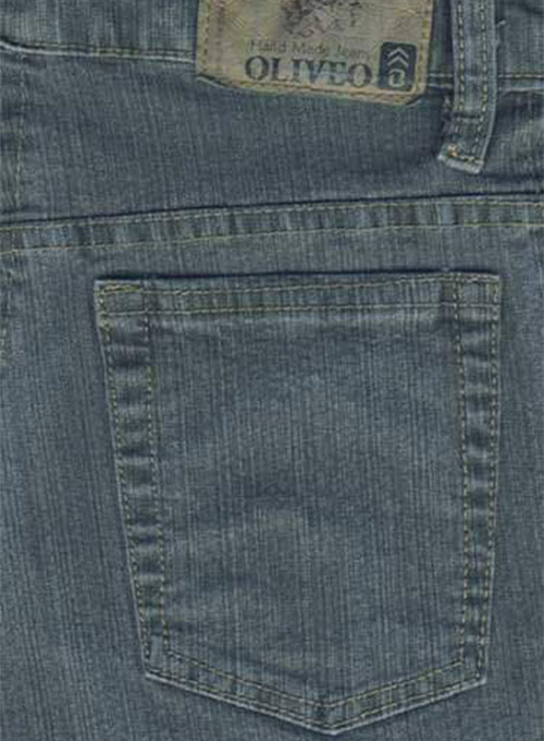 Green Stretch Denim Jeans - Denim-X Wash