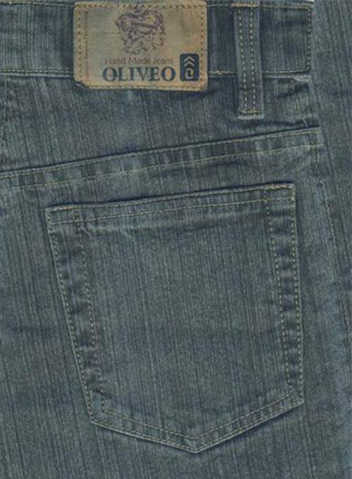 Green Stretch Denim Jeans - Dark Wash
