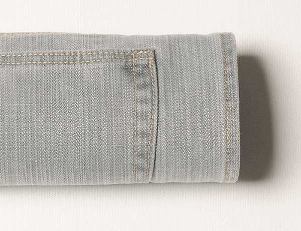 Hazy Gray Drill Jeans - Blast Wash